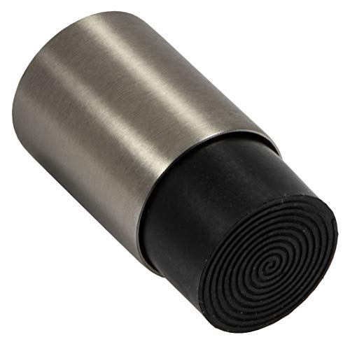 Gedotec Design EDELSTAHL Türstopper Gummi-Puffer für Wandmontage - MODERN | Tiefe: 48 mm | 16 mm Gummiauflage | stabiler Wand-Puffer inkl. Befestigungsmaterial | 1 Stück - Wand-Türpuffer zum Schrauben