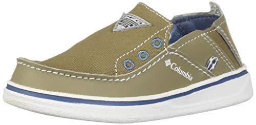 Columbia Unisex-Kid's Childrens Bahama PFG Uniform Dress Shoe, Pebble, White, 12 Regular US Little Kid