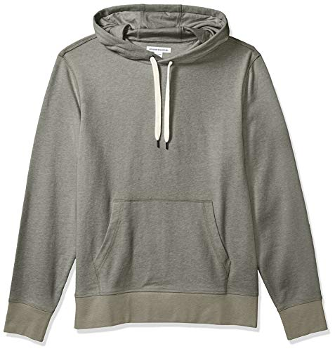 Amazon Essentials Men's Lightweight French Terry Hooded Sweatshirt, Olive, X-Large