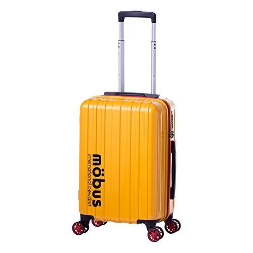 [アジアラゲージ] モーブス スーツケース 機内持ち込み 32L 33.5cm 2.5kg MBC-1908-18 ハード ファスナー mobus×A.L.I TSAロック搭載[09/12] イエロー