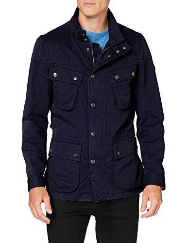 Hackett London Garment Dye Velo Chaqueta, Azul (Navy 595), L para Hombre