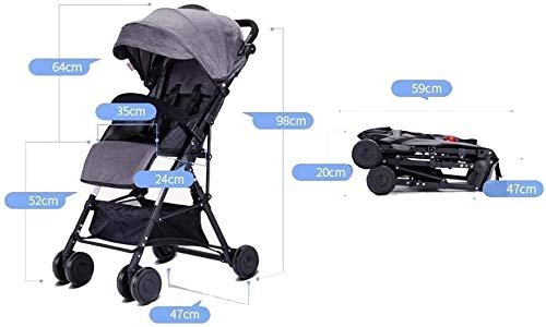 LAMTON Baby Pushchair, Buggy, Pushchairs Baby Strollers, Trolley for Children Lightweight Portable Folding Seat for Children 0-3 Years Cart for Children (Color : Blue) LAMTON The adjustable 5-point safety harness has comfortable shoulder pads, The sturdy frame has a wider seat which results in a more comfortable ride for your child The stroller can be easily folded, smaller and more portable; the adjustable backrest angle can be seated or lying down, as well as a large shopping basket and caster 1. The body is made of high quality steel tube, sturdy and durable, sturdy carrier, soft pedals, safe and ecological, does not scratch the child, strength and durability 6