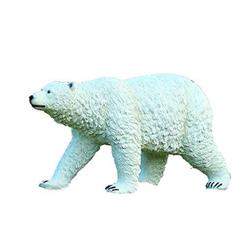 TongN Outdoors Statues Polar Bear Garden Decoration, Animal Sculpture, Outdoor Garden Craft Ornament, Lawn Statue Decoration