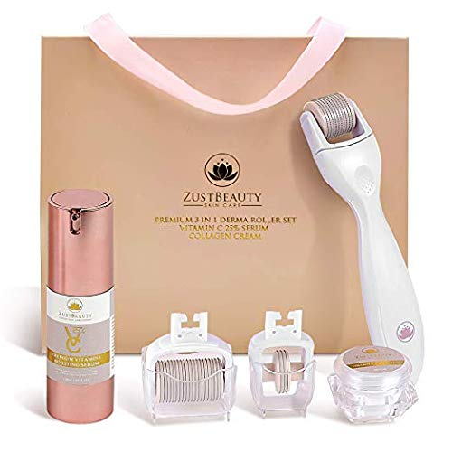 ZustBeauty Derma Roller Kit for Face & Body Skin Care