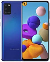 Samsung Galaxy A21S SM-A217f/DS | 4G LTE 64GB + 4GB Ram LTE |Four Cameras (48+8+2+2mp)| Android International Version (GSM Only) (Black) (Blue)