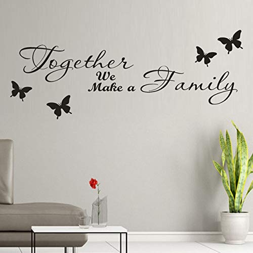 Beauty-Aufkleber an den Wänden zusammen machen wir eine Familie abnehmbare Kunst Wandbild Home Room Decor Kinderzimmer Wandaufkleber