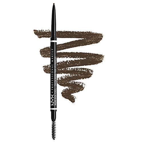 NYX Professional Makeup Micro Brow Pencil, Beidseitig mit ausdrehbarem Augenbrauenstift und Bürstchen, Vegane Formel, Farbton: Brunette
