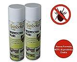 Sandokan Insetticida Acari ad Azione abbattente Tac Spray 300ml - 2 Pezzi - contro acari mosche e zanzare a base di piretro naturale per Interni ed Esteni