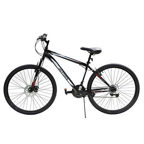 Murtisol 27.5'' Mountain Bike Shimanos Shifter 21 Speeds Front Disc Brake and Rear Iron V-Clipper Adjustable Seat and Handlebar, Color Black