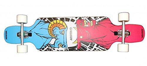 Koston Longboard Drop Through Komplettboard Cruiser Clash 41.0 x 9.5 inch - Profi Dropthrough Longboard Drop Thru Carver
