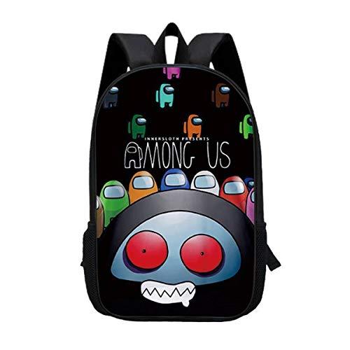 Among Us son mochilas para niños, estilo informal, viaje, senderismo, camping, para niños, para fans de los animales (A07, primaria 1-3)