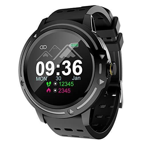 HQHOME 1,3 Zoll Farbbildschirm Smart Watch, Health Fitness Armband, Bluetooth-Uhr, Aktivitäts-Tracker, Unterstützung Sport Kalorienzähler/Herzfrequenz/Blutdruck/Kamera-Fernbedienung