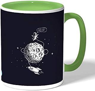 astronaut Coffee Mug by Decalac, Green - 19070