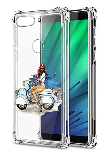 Suhctup Coque Filles Compatible pour Xiaomi Redmi S2,Etui [Antichoc Airbag] Transparent Silicone TPU Souple Mode Motif Crystal Housse de Protection Ca