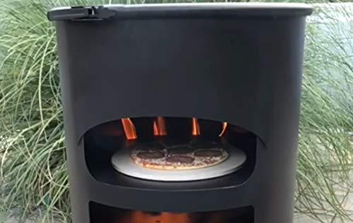 A. Weyck Tools Universal Feuertonne Dutch Oven Grill Feuerplatte Pizza Feuerkorb Stahlfass BBQ (Pizza Funktion #121)