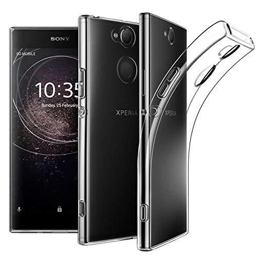 Verco Handyhülle für Sony L2 Hülle, Handy Cover für Sony Xperia L2 Hülle Transparent Dünn Klar Silikon, durchsichtig