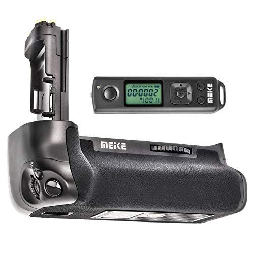 Meike Battery Grip - Impugnatura batteria compatibile con Canon 7D Mark II – ricambio per Canon BG-E16 con telecomando con frequenza radio a 2,4 GHz