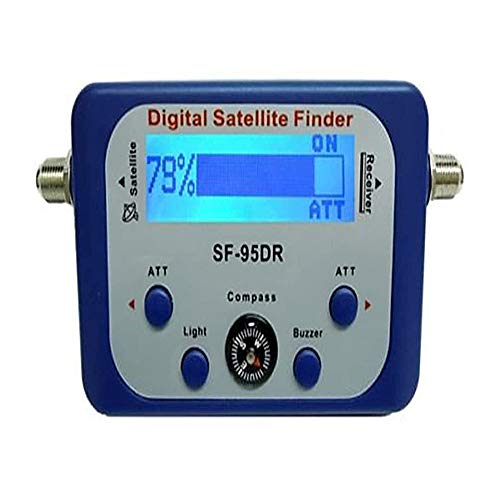AGPtek Good For Campers Digital Satellite Signal Meter Finder Meter For Dish Network Directv FTA LCD Graphic Display Backlight Compass Buzzer Control