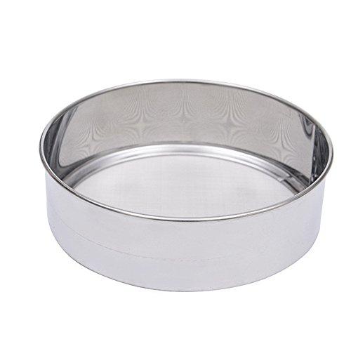longyitrade Setaccio per Farina in Acciaio Inossidabile Setaccio Circolare a 40 Maglie per Utensili da Cucina Silver