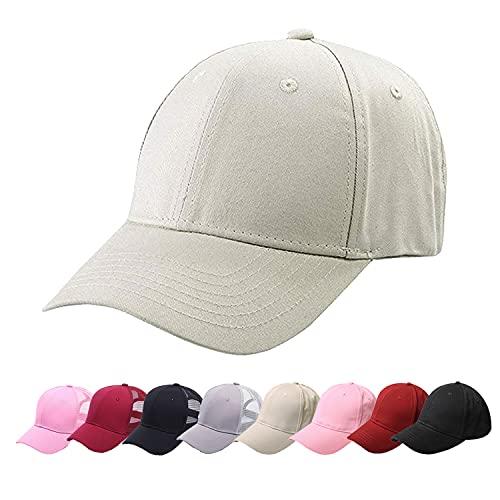 CheChury Cappello Donna del Cotone Cappellino Bande a Rete Berretto da Baseball Ragazze Ponytail Cappello da Baseball con Coda di Cavallo Estivo