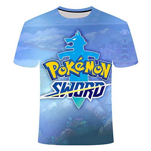 ZQZL 3D Cat Print Pi ka chu T-Shirt Männer Frauen Kinder T-Shirt Sommer Funny Boy T-ShirtLose Ärmel