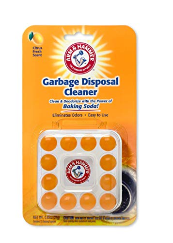 Arm & Hammer 12-Count Sink Garbage Disposal Cleaner, Freshener & Deodorizer Capsules Citrus Scent, with Power of Baking Soda