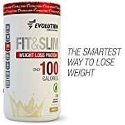 Evolution Low Carb FIT & Slim Grass Fed Whey Protein | High Fiber | Keto Approved | Stevia Sweetened | Only 100 Kcal per Serving | 2Lbs - 30 Servings | Award Winning Taste Vanilla