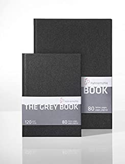 Hahnemuhle The Grey Book - A5 Sized Sketch Book - 120 GSM; 14.8 * 21 (cm)