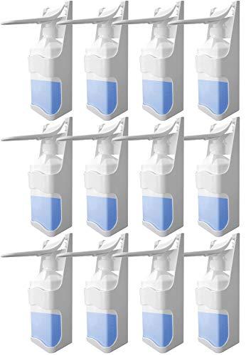 Balinco 12x 1000 ml / 1 l Desinfektionsmittelspender Wand Kunststoff Pumpe Desinfektionsmittel Seifenspender Wandmontage nachfüllbar Desinfektionsmittel Spender weiß (12x Spender)