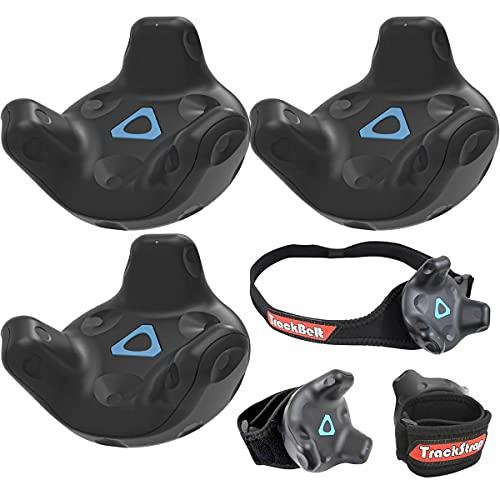 HTC 3 Pack Vive Tracker for VR Headset - with Rebuff Reality TrackBelt + 2 TrackStraps Full Body Tracking VR Bundle, Black
