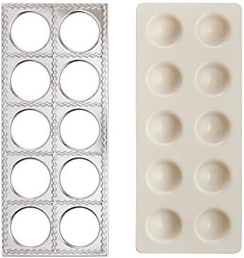 Fante s 43806 Grandma Luisa s Jumbo Ravioli Maker Aluminum plastic product image