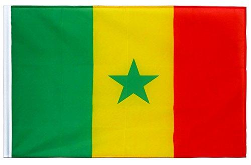 Senegal Flagge Fahne 90cm x 150cm mit Hohlsaum