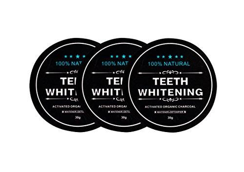 5X CARBONE ATTIVO dentale dei mobili Whitening Dentifricio dentifricio bianco denti di 30G