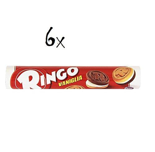 6x Pavesi Ringo Kekse kekse mit Vanille 165 g cookies italien biscuits snack
