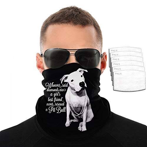 Pitbull And Girl Dog Outdoor Neck Warmer Windproof Breathable Face Mask Headscarf Hats