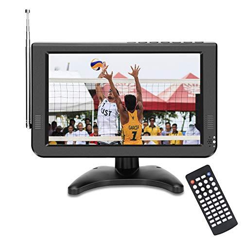 10.6-inch Portable TV with Detachable Antenna,Battery tv Built-in ATSC&NTSC Digital Tuner/USB/TF Card Slot and AV/HDMI Port in