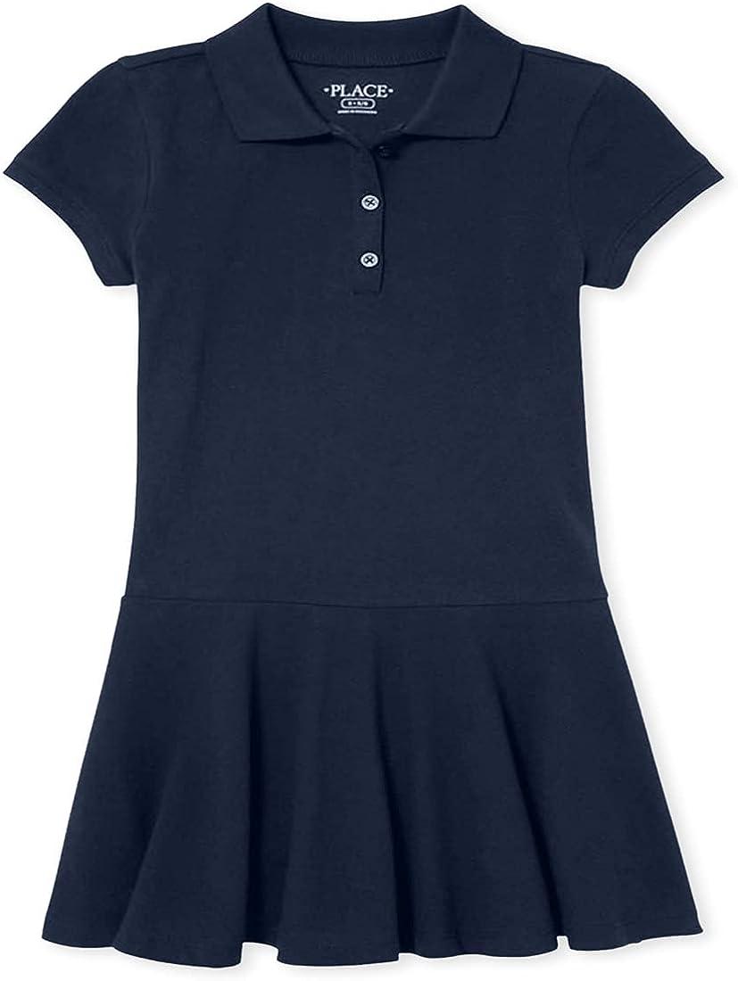 The Children's Place Girls' Uniform Pique Polo Dress 2-Pack
