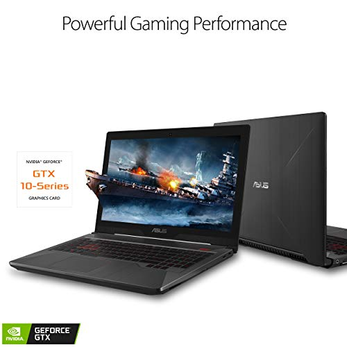 "Asus FX503 Gaming Laptop, 15.6"" 120Hz Full HD, Intel i5-7300HQ Processor, GeForce GTX 1060, 8GB DDR4, 128GB M.2 SSD + 1TB HDD, Windows 10 Home - FX503VM-NS52"