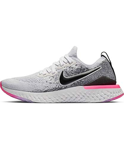 Nike Epic React Flyknit 2 Women's Running Shoe White/Black-Hyper Pink-Blue Tint 7.5