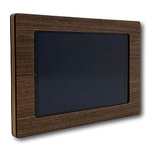 NobleFrames Holz Wandhalter für Samsung Galaxy Tab A 10.1 T510 / T515 (2019) aus Nussholz | Wohnzimmer | Küche | Büro