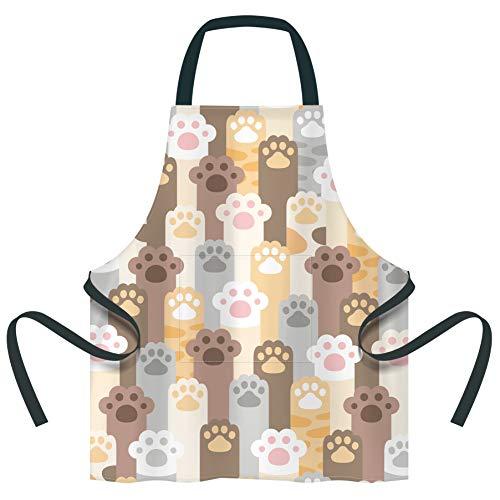 QSXX Delantal infantil para niños Cocina Juego de Chef delantal de cocina ajustable con bolsillo ara Cocinar Hornear Pintar Artesanía pintar cocinar escuela regalo (6-12 Años)