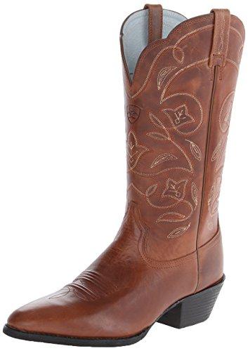Ariat Women's Women's Heritage Western R Toe Boot, Russet Rebel, 9 B US