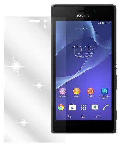 dipos I 2X Schutzfolie klar kompatibel mit Sony Xperia M2 Folie Bildschirmschutzfolie