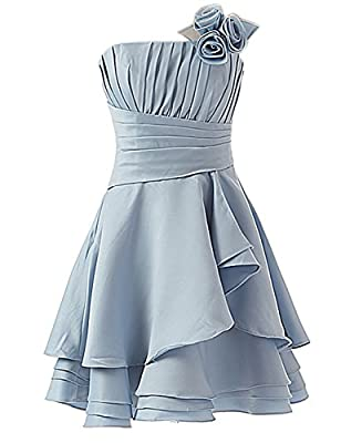Sarahbridal Juniors Tiered Satin Homecoming Dresses Short Sexy Backless Prom Party Cocktail Gowns Sky Blue
