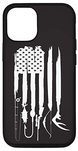 iPhone 12/12 Pro hunting fishing flag, fishing, hunting, hunting and fishing Case