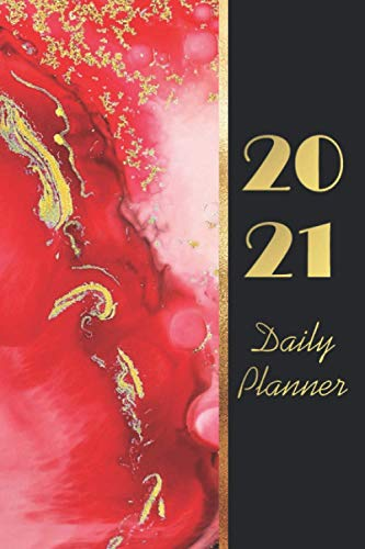 2021 Daily Planner: 12 Month Daily Agenda Schedule Hourly & To Do List|12 Month Daily Purse Calendar 2021 Black and Gold Cover|Marble Design Daily ... 2021|Marble Cover Daily Purse Planner 2021