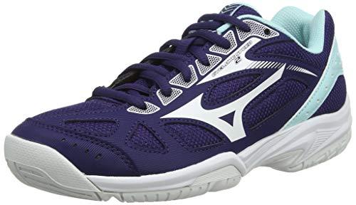 Mizuno Cyclone Speed 2, Zapatillas de Voleibol Mujer, Púrpura Astral Aura Blanco Azul Ligero 15, 38 EU