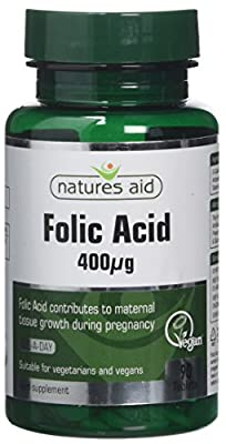 Natures Aid Folic Acid 90 Tablets