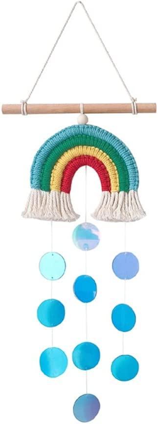 Anntool Macrame Max 46% OFF Sales for sale Rainbow Wall Decor Woven Hanging Cloud
