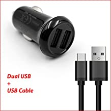 for Orbo Jr. 4GB Android 4.1 Tablet Life-Tech(TM) Dual Ports USB Car Charger Adapter + USB Charging/Data Cable
